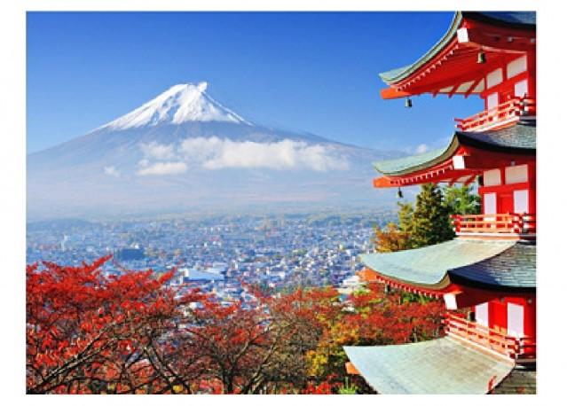 Mount Fuji in autumn - 66 x 50 cm