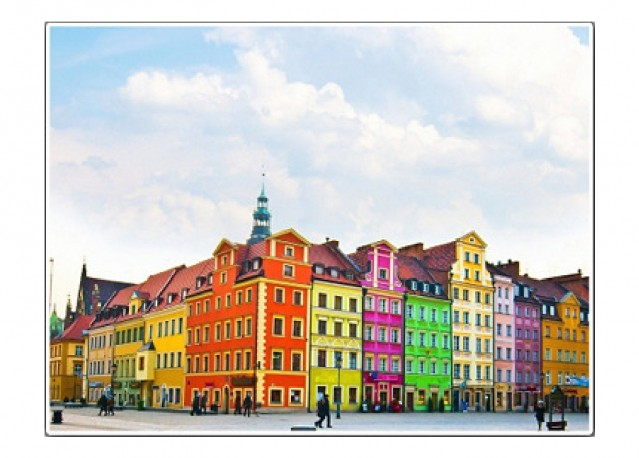Centre ville de Breslavia - 66 x 50 cm