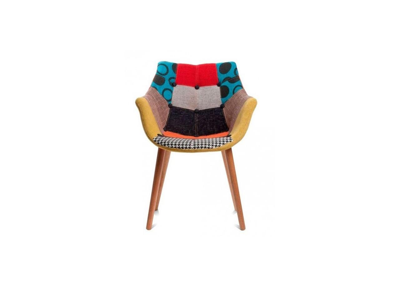 location chaise en tissu eleven patchwork. Black Bedroom Furniture Sets. Home Design Ideas