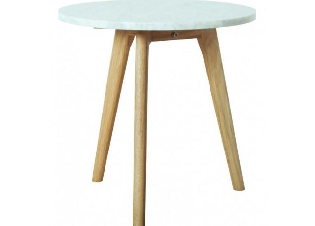 Location Table basse en Marbre et Chêne massif WHITE STONE ...