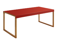 Table basse KARMA Rouge Rectangulaire