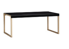 Coffee table KARMA Black Rectangular