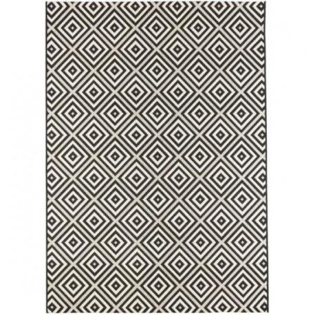 Tapis LOMIS Noir et ivoire - 120 x 170 cm