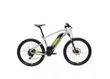 Vélo VTT électrique Rockrider E-ST 520 Gris et jaune